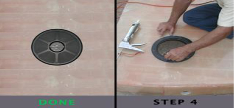 Armstrong Nautical Deck plate installation guide Step 4
