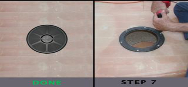 Armstrong Nautical Deck plate installation guide Step 7